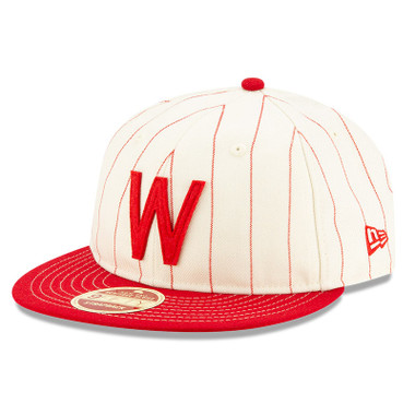 Men's New Era Heritage Series Red Pinstripe Washington Senators 9FIFTY Adjustable Cap