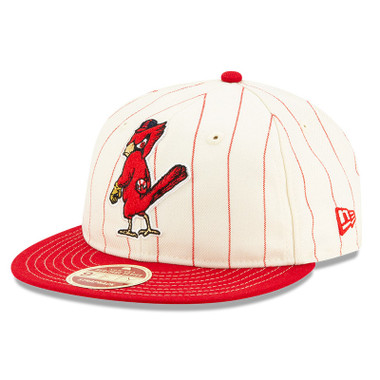 Men's New Era Heritage Series Retro Crown Red Pinstripe 1950 St. Louis Cardinals 9FIFTY Adjustable Cap