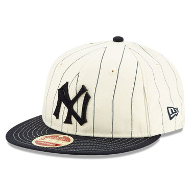 Men's New Era Heritage Series Retro Crown Navy Pinstripe 1934 New York Yankees 9FIFTY Adjustable Cap