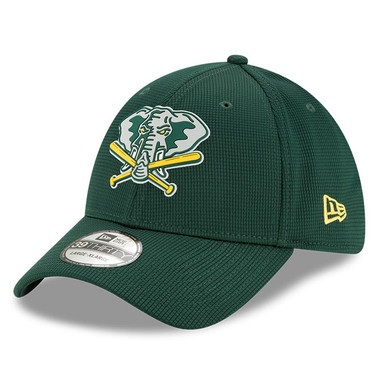 Men's New Era Oakland Athletics 39THIRTY Flex Fit Green Clubhouse Cap