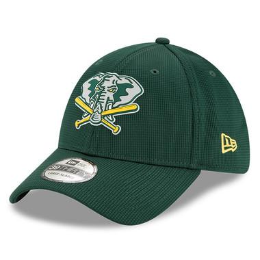 Men's New Era Oakland Athletics 39THIRTY Flex Fit Green Clubhouse Cap