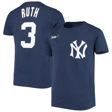 Youth Nike Babe Ruth New York Yankees Navy Name & Number T-Shirt