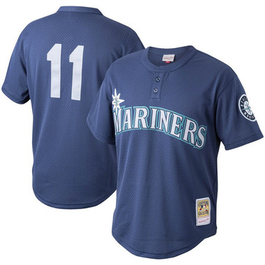 Men's Mitchell & Ness Edgar Martinez Seattle Mariners Authentic Replica 1995 Mesh Batting Practice Jersey