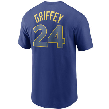 Men's Nike Ken Griffey Jr Seattle Mariners Cooperstown Collection Name & Number Royal T-Shirt