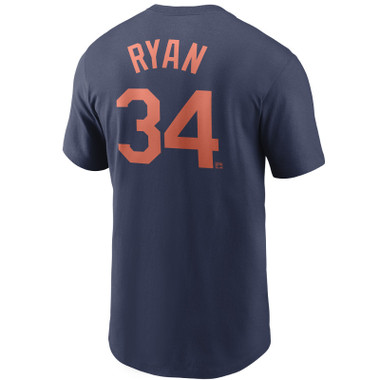 Men's Nike Nolan Ryan Houston Astros Cooperstown Collection Name & Number Navy T-Shirt