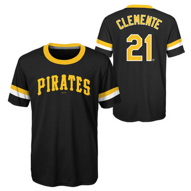 Youth Roberto Clemente Pittsburgh Pirates Cooperstown Collection Jersey Tee