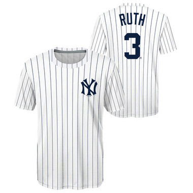 Youth Babe Ruth New York Yankees Cooperstown Collection Jersey Tee