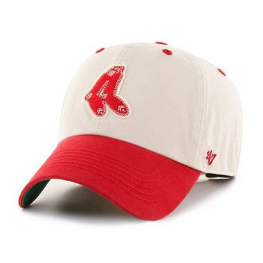 Men's '47 Brand Boston Red Sox Cooperstown Prewett Clean-Up Adjustable Cap