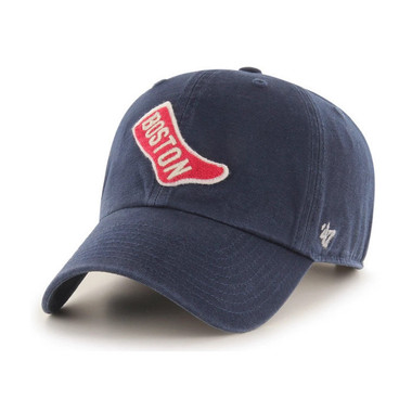 Men's '47 Brand Boston Red Sox Cooperstown McLean Clean-Up Adjustable Navy Cap