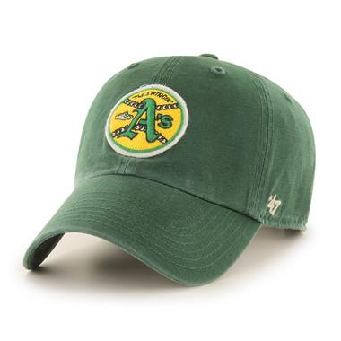 Men's '47 Brand Oakland Athletics Cooperstown McLean Clean-Up Adjustable Green Cap