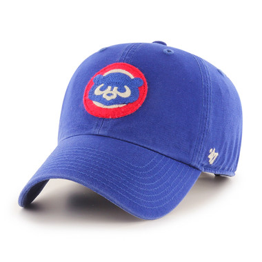 Men's '47 Brand Chicago Cubs Cooperstown McLean Clean-Up Adjustable Royal Cap