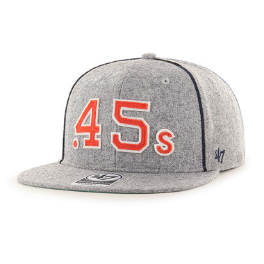 Men's '47 Brand Houston Colt .45s Pilgrimage Collection Grey Wool Blend Snapback Adjustable Cap