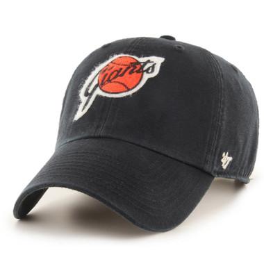 Men's '47 Brand San Francisco Giants Cooperstown McLean Clean-Up Adjustable Black Cap