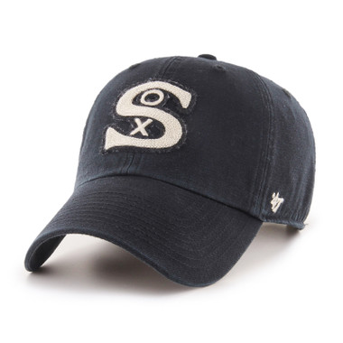 Men's '47 Brand Chicago White Sox Cooperstown McLean Clean-Up Adjustable Black Cap