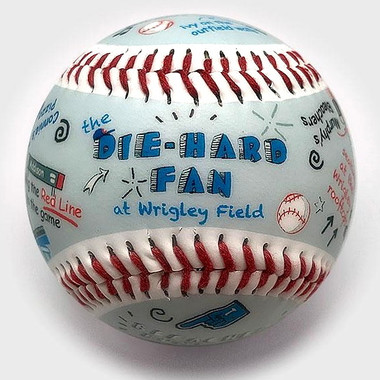 Die-Hard Fan at Wrigley Field Unforgettaballs Limited Commemorative Baseball with Lucite Gift Box