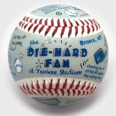 Die-Hard Fan at Yankee Stadium Unforgettaballs Limited Commemorative Baseball with Lucite Gift Box