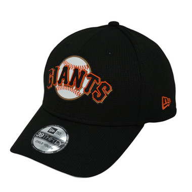 Youth New Era San Francisco Giants 39THIRTY Black Flex Fit Clubhouse Cap