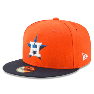 Youth New Era Houston Astros Alternate 59FIFTY AC Fitted Cap