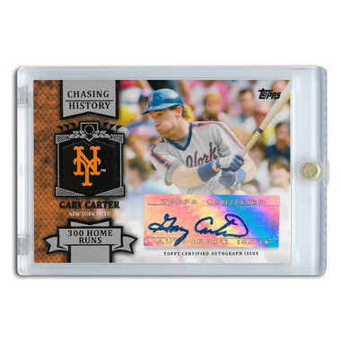 Gary Carter Autographed Card 2013 Topps Chasing History # CHA-GC