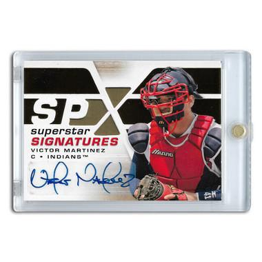 Victor Martinez Autographed Card 2007 Upper Deck SPx # SSS-VM