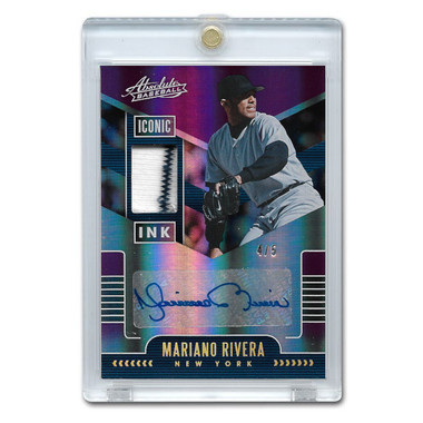 Mariano Rivera Autographed Card 2020 Playoff Absolute Iconic Ink Lt Ed of 5