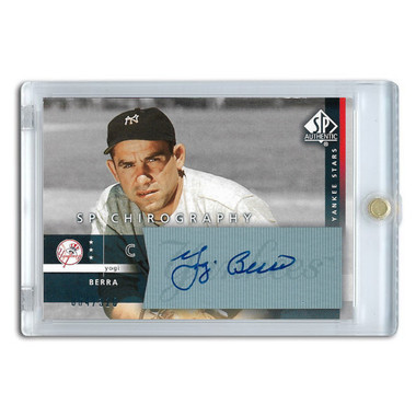 Yogi Berra Autographed Card 2003 SP Authentic Chirography Lt Ed of 320