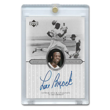 Lou Brock Autographed Card 2000 Upper Deck Century Legends