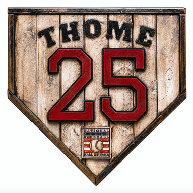 Jim Thome Hall of Fame Vintage Distressed Wood 17 Inch Legacy Home Plate Ltd Ed of 250