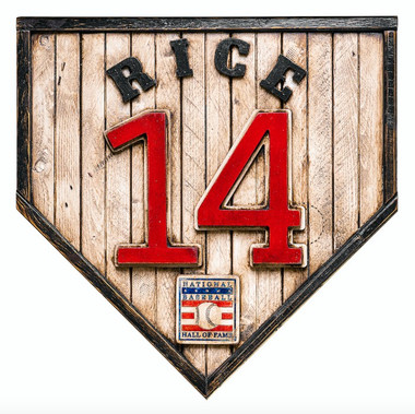 Jim Rice Hall of Fame Vintage Distressed Wood 17 Inch Legacy Home Plate Ltd Ed of 250