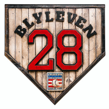 Bert Blyleven Hall of Fame Vintage Distressed Wood 17 Inch Legacy Home Plate Ltd Ed of 250