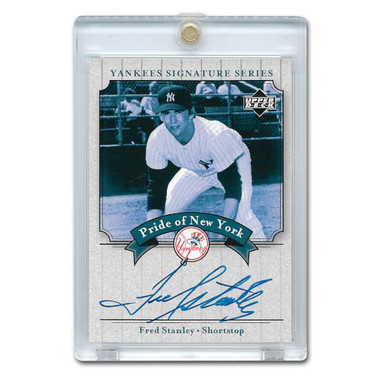 Fred Stanley Autographed Card 2003 Upper Deck Yankees Signature Series #PN-FS