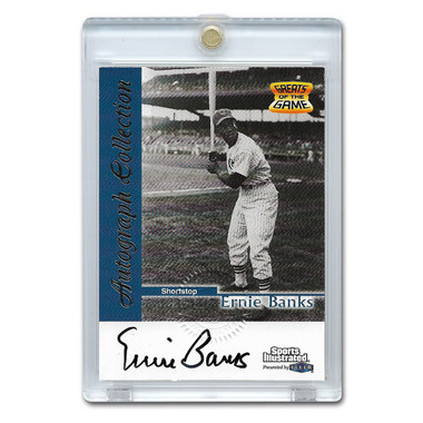 Ernie Banks Autographed Card 1999 Fleer Sports Illustrated Greats (JSA)