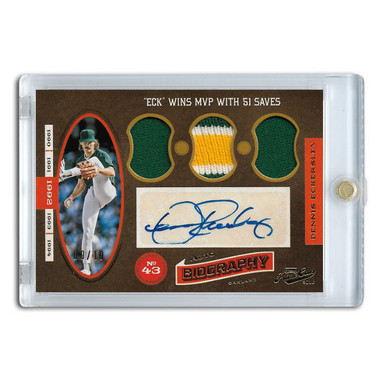 Dennis Eckersley Autographed Card 2016 Panini Prime Cuts Auto Biographiy Lt Ed of 10
