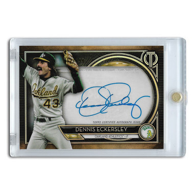 Dennis Eckersley Autographed Card 2020 Topps Tribute Ltd Ed of 199