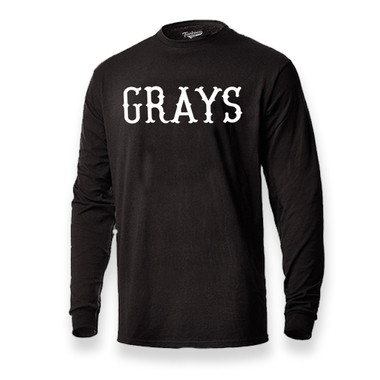Men's Teambrown Homestead Grays Long Sleeve Crew T-Shirt