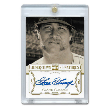 Goose Gossage Autographed Card 2013 Panini Cooperstown Signatures Ltd Ed 150