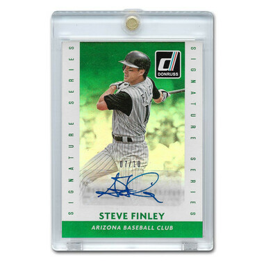 Steve Finley Autographed Card 2015 Donruss Signature Series Green Ltd Ed of 10