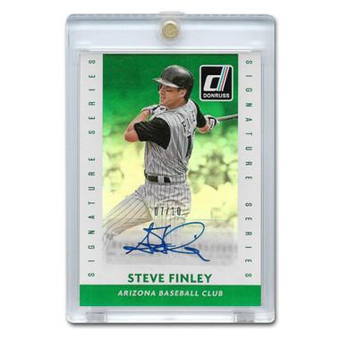 Steve Finley Autographed Card 2015 Donruss Signature Series Green Ltd Ed of 10