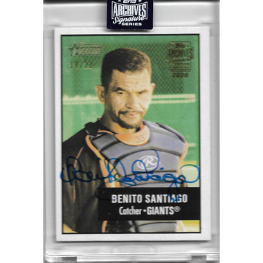 Benito Santiago Autographed Card 2019 Topps Archives Signature Series Ltd Ed of 22