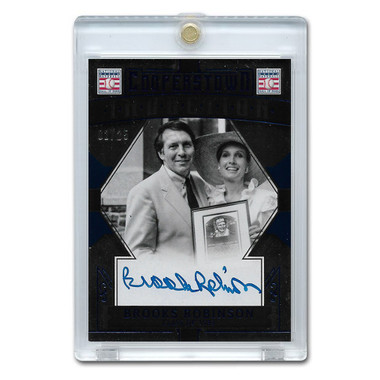 Brooks Robinson Autographed Card 2015 Panini Cooperstown Blue # 7 Ltd Ed of 25