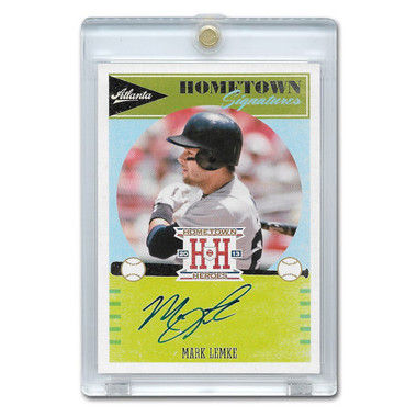 Mark Lemke Autographed Card 2013 Panini Hometown Signatures