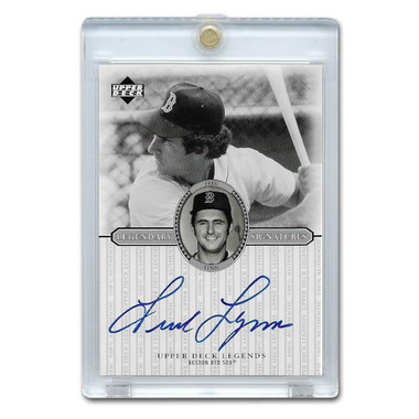 Fred Lynn Autographed Card 2000 Upper Deck Century Legends