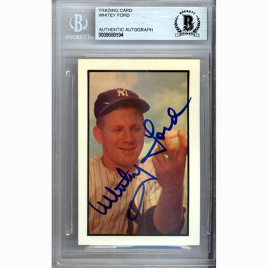 Whitey Ford Autographed Card 1953 Bowman # 153 Reprint (Beckett)