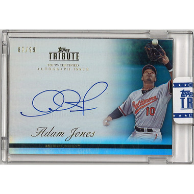 Adam Jones Autographed Card 2012 Topps Tribute Ltd Ed of 99