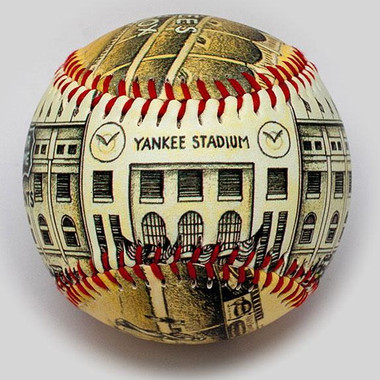 Yankee Stadium Opening Day 1923 Unforgettaballs Limited Commemorative Baseball with Lucite Gift Box