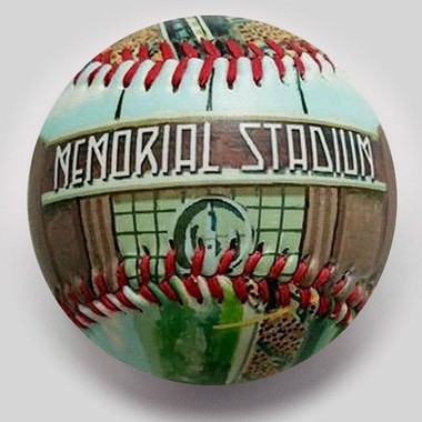Baltimore Memorial Stadium Unforgettaballs Limited Commemorative Baseball with Lucite Gift Box
