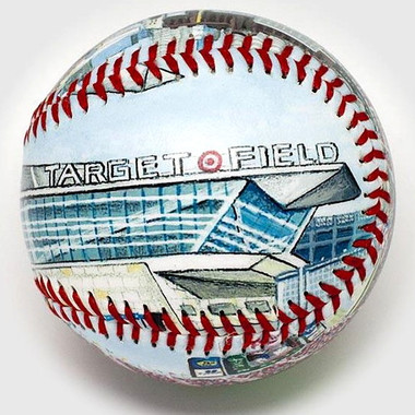 Target Field Unforgettaballs Limited Commemorative Baseball with Lucite Gift Box