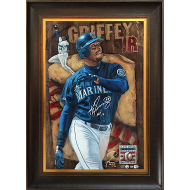 Ken Griffey Jr 'Here's Loooking At You, Kid' Autographed Limited Edition of 33 Framed 24 x 36 Canvas Giclee (Justyn Farano)
