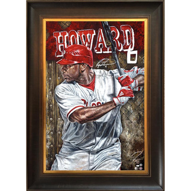 Ryan Howard 'Blast Off' Autographed Limited Edition of 15 Framed 24 x 36 Canvas Giclee (Justyn Farano)