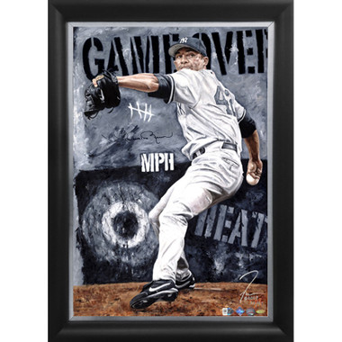 Mariano Rivera 'Game Over' Autographed Limited Edition of 42 Framed 24 x 36 Canvas Giclee (Justyn Farano)